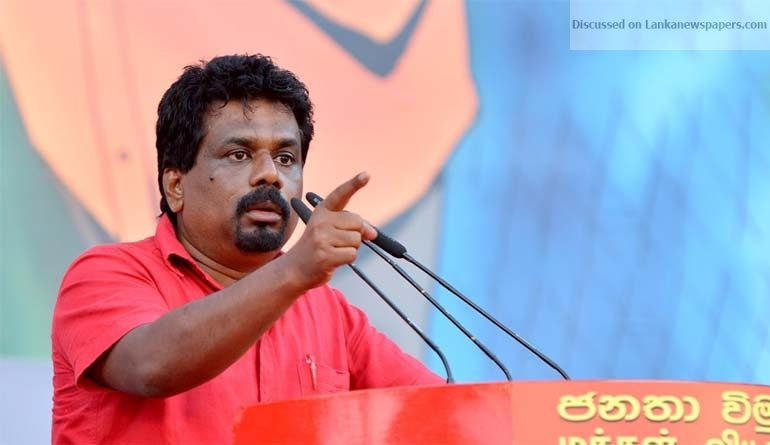Anura Kumara in sri lankan news