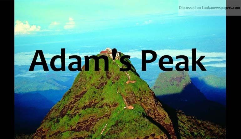 Sri Lanka News for Adam's Peak new 'footprints' No archaeological value – DGA Toe engravings carved into stone