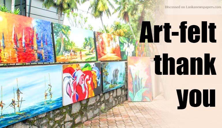 Sri Lanka News for Art-felt thank you