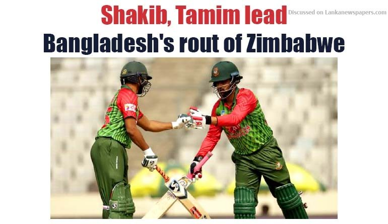 Sri Lanka News for Shakib, Tamim lead Bangladesh's rout of Zimbabwe