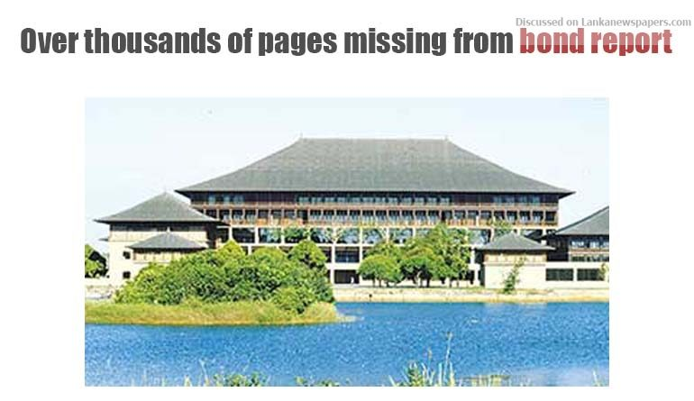 Sri Lanka News for JVP, JO want President's Secy questioned over thousands of pages missing from bond report