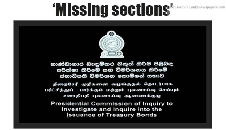 Sri Lanka News for 'Missing sections' of bond report: Prez to meet party leaders