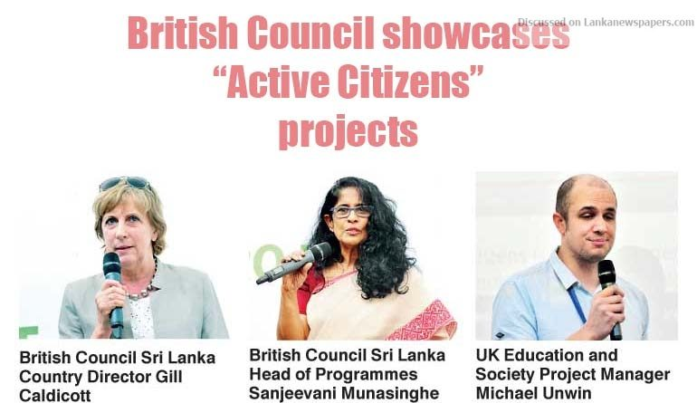 "Sri Lanka News for British Council showcases ""Active Citizens"" projects to further promote community cohesion"