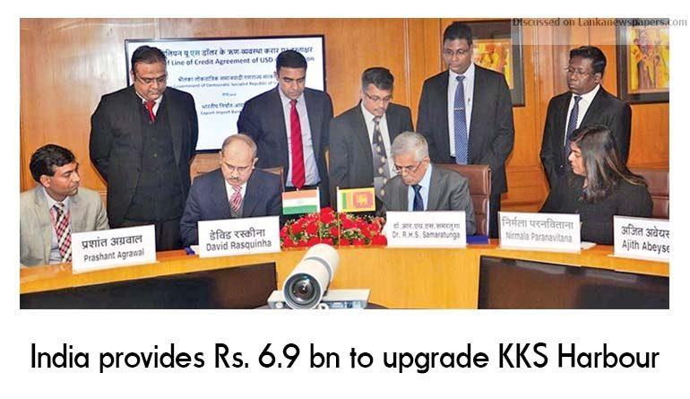 Sri Lanka News for India provides Rs. 6.9 bn to upgrade KKS Harbour