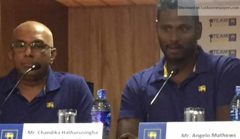 Sri Lanka News for Angelo Mathews appointed SL limited over captain