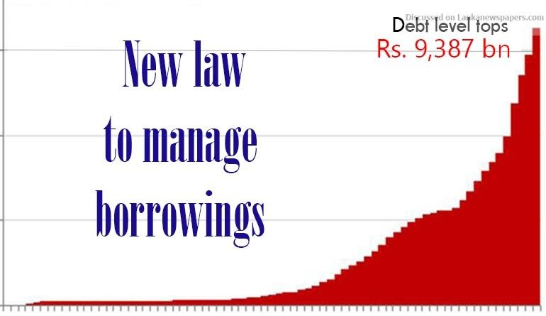 Sri Lanka News for Debt level tops Rs. 9,387 billion: New law to manage borrowings