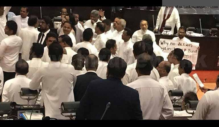 Sri Lanka News for Thuggery and obscenity: the order of the day – Parliament degenerates into madness