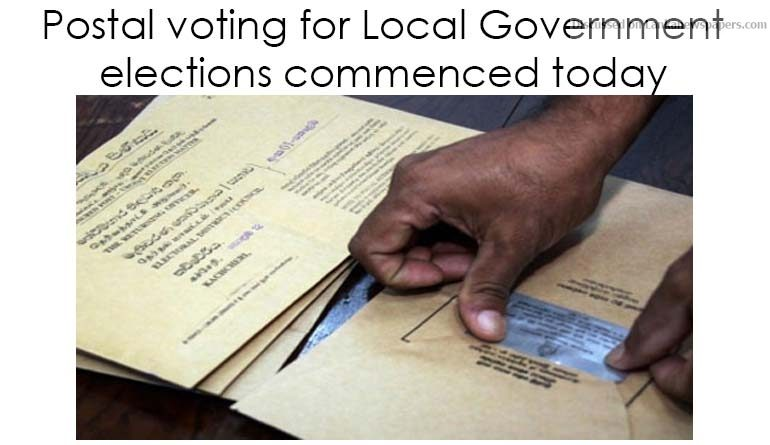 Sri Lanka News for Postal voting for Local Government elections commenced today