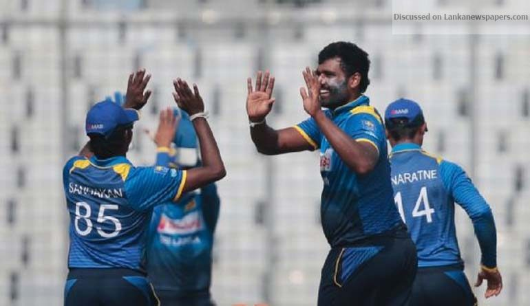 Sri Lanka News for Thisara Perera's all-round brilliance keeps Sri Lanka alive