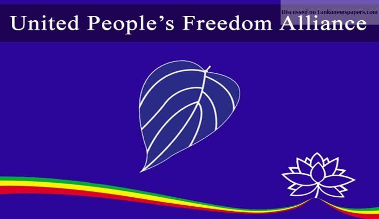 UPFA in sri lankan news