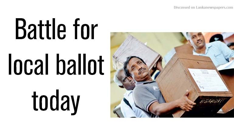 Sri Lanka News for Battle for local ballot today