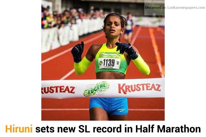 Sri Lanka News for Hiruni sets new SL record in Half Marathon
