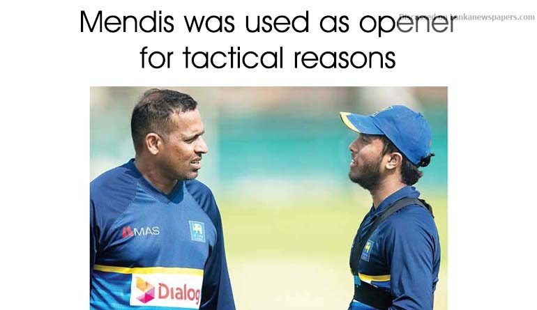 Sri Lanka News for Mendis was used as opener for tactical reasons – Samaraweera