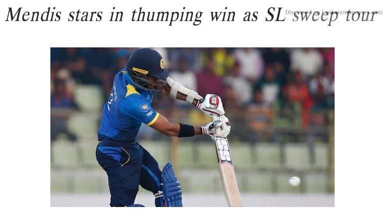 Sri Lanka News for Mendis stars in thumping win as SL sweep tour