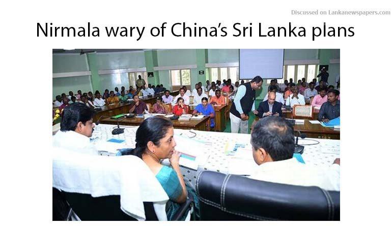 Sri Lanka News for Nirmala wary of China's Sri Lanka plans