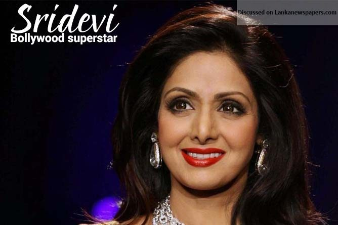 Sri Lanka News for Sridevi: Bollywood superstar dies at 54 of heart attack