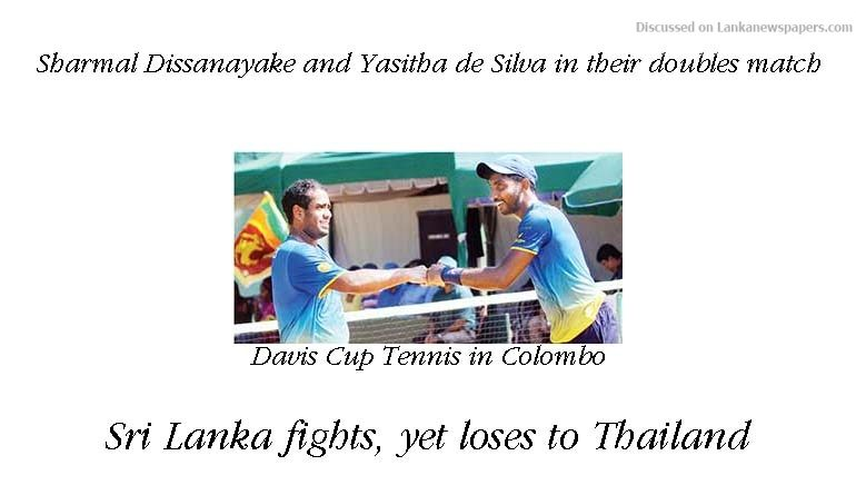 Sri Lanka News for Sri Lanka fights, yet loses to Thailand