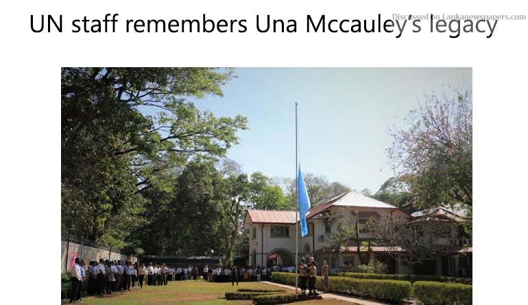 Sri Lanka News for UN staff remembers Una Mccauley's legacy