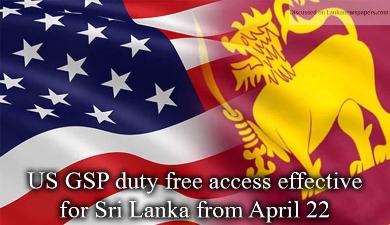 GSP in sri lankan news