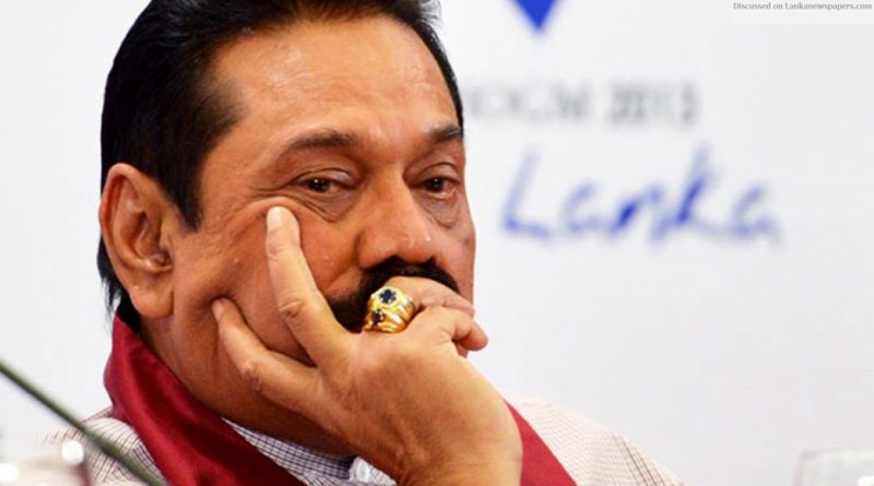 Mahinda Upset in sri lankan news