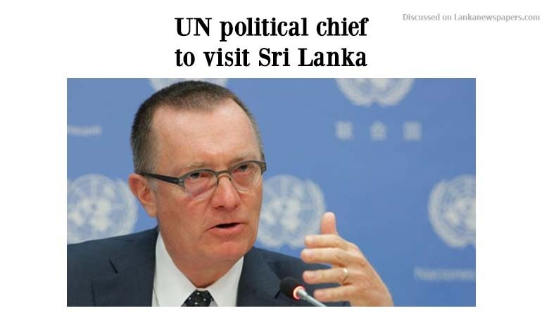 Sri Lanka News for UN political chief to visit Sri Lanka