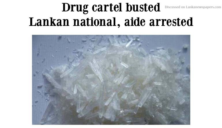 Sri Lanka News for Drug cartel busted, Lankan national, aide arrested
