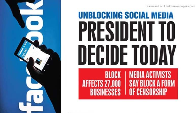 Sri Lanka News for Unblocking social media President to decide today