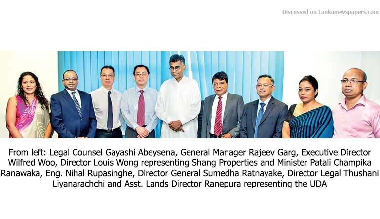 Sri Lanka News for Shang Properties, UDA sign 99-year land lease deal worth over Rs. 12.8 b
