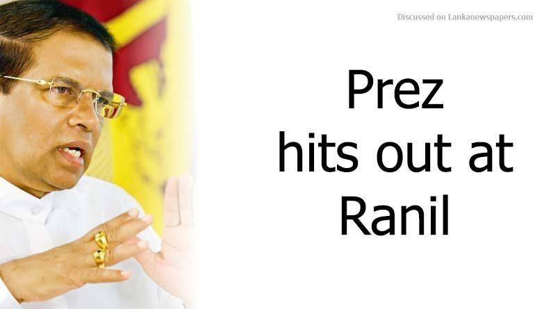 Sri Lanka News for Prez hits out at Ranil