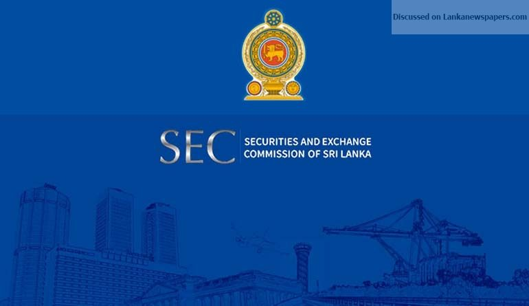 Sri Lanka News for Capital market worried over stalemate at SEC