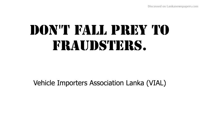 Sri Lanka News for Don't fall prey to fraudsters: Vehicle importers