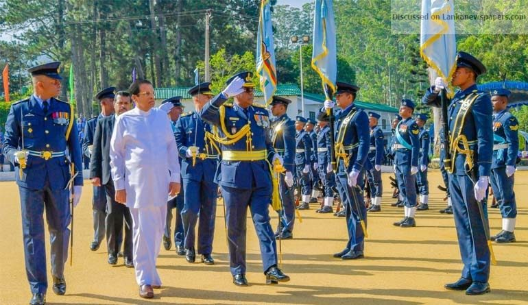 Sri Lanka News for Sri Lanka Air Force Combat Training School in Diyatalawa honoured with President's Colours