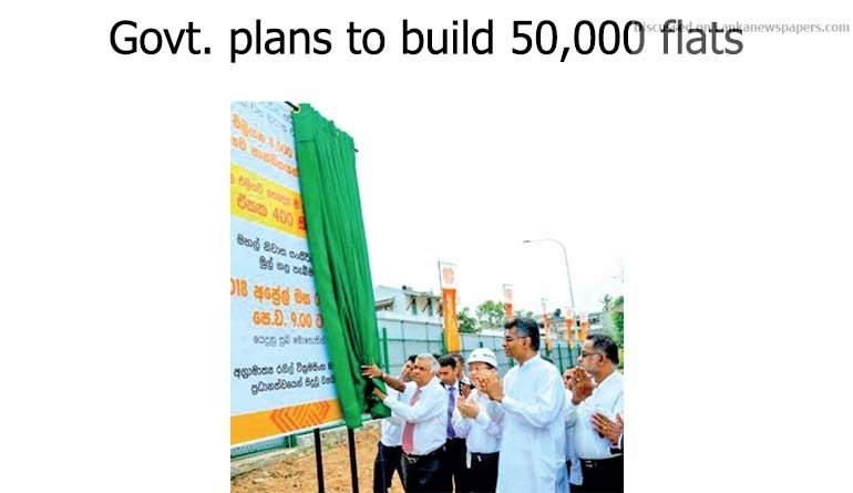 Sri Lanka News for Govt. plans to build 50,000 flats for low income families in Colombo
