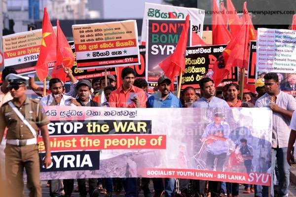 Sri Lanka News for SYU protests against missile attacks in Syria