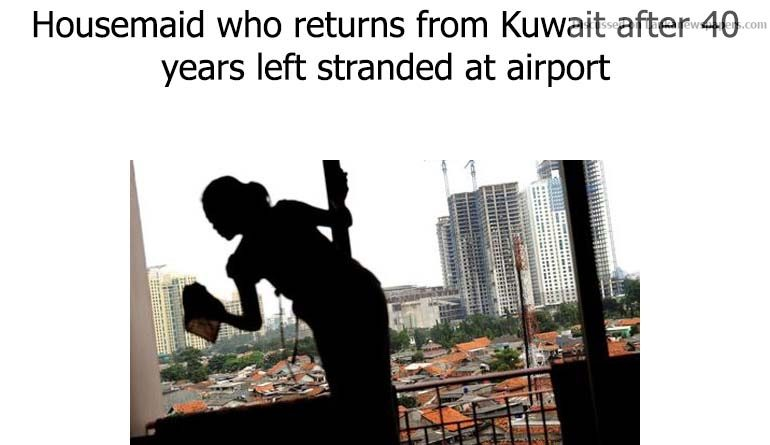 Sri Lanka News for Housemaid who returns from Kuwait after 40 years left stranded at airport