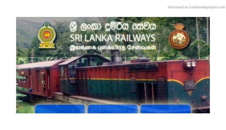 railway in sri lankan news