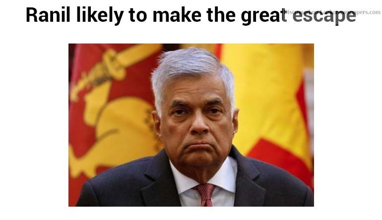 Sri Lanka News for Ranil likely to make the great escape
