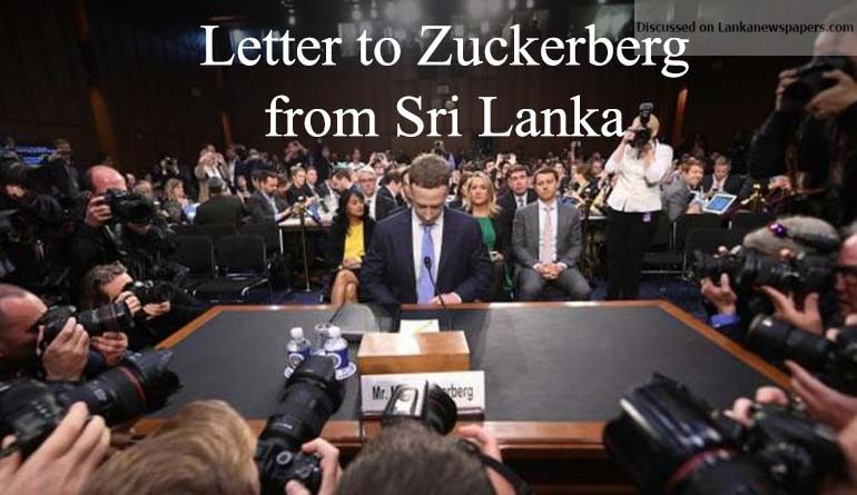 zuckerburg in sri lankan news