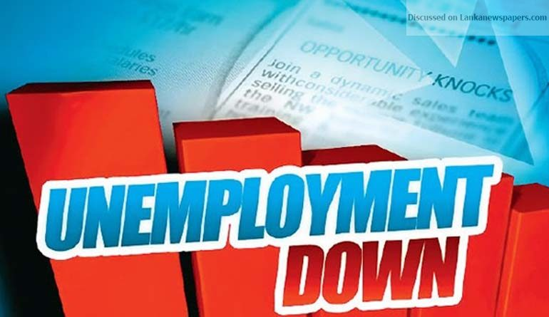 Sri Lanka News for Unemployment records 5-year low