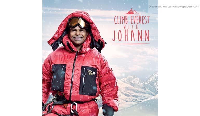 Sri Lanka News for Sri Lankan Johann Peries close to reaching summit of Mount Everest