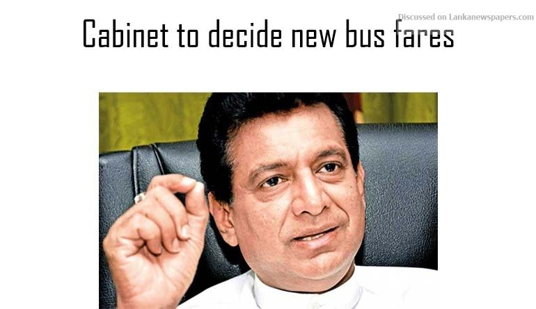Sri Lanka News for Cabinet to decide new bus fares
