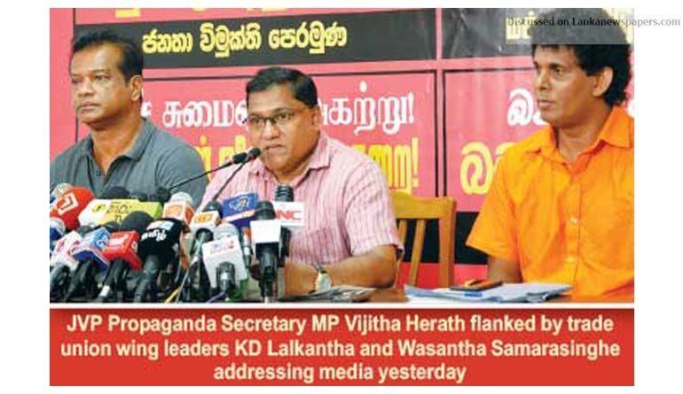 Sri Lanka News for JVP comes out blazing against govt