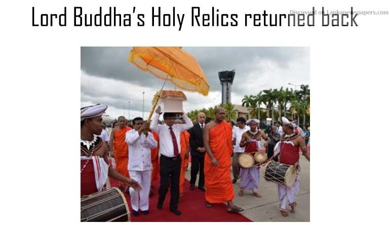 Sri Lanka News for Lord Buddha's Holy Relics returned back to Pakistan