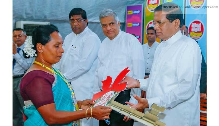 Sri Lanka News for 722 two new houses in Colombo vested with low income families by the President.