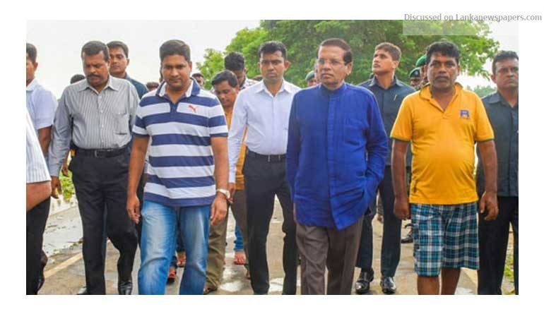 Sri Lanka News for President tours flood-hit areas to observe relief operations