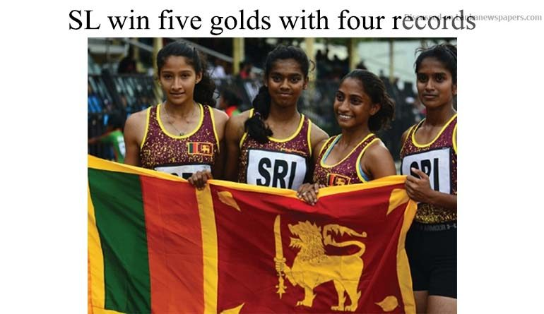Sri Lanka News for SL win five golds with four records