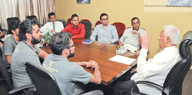 Sri Lanka News for Moratuwa University team discusses electric car project with Minister
