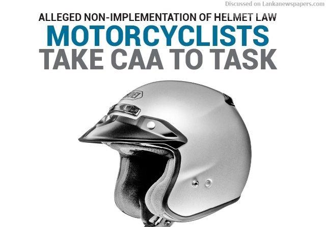 Sri Lanka News for Motorcyclists take CAA to task