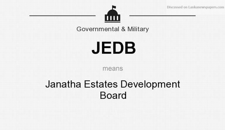 JEDB in sri lankan news