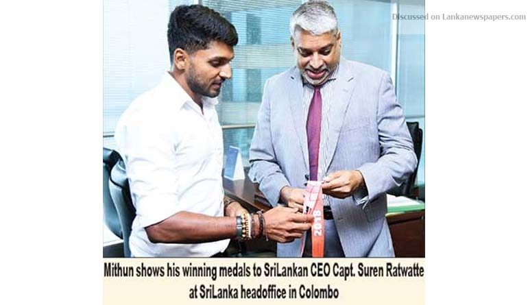 Sri Lanka News for SriLankan Airlines continues to propel Ironman Mithun Liyanage
